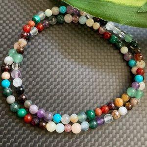 Crystal mini's - set of 2 gemstone bracelets